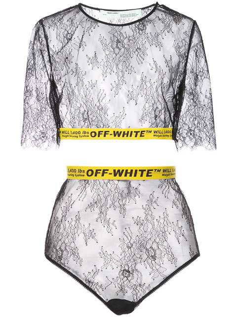 $585 Off-White Lace Printed Style Loungewear - Buy Online - Fast Delivery, Price, Photo