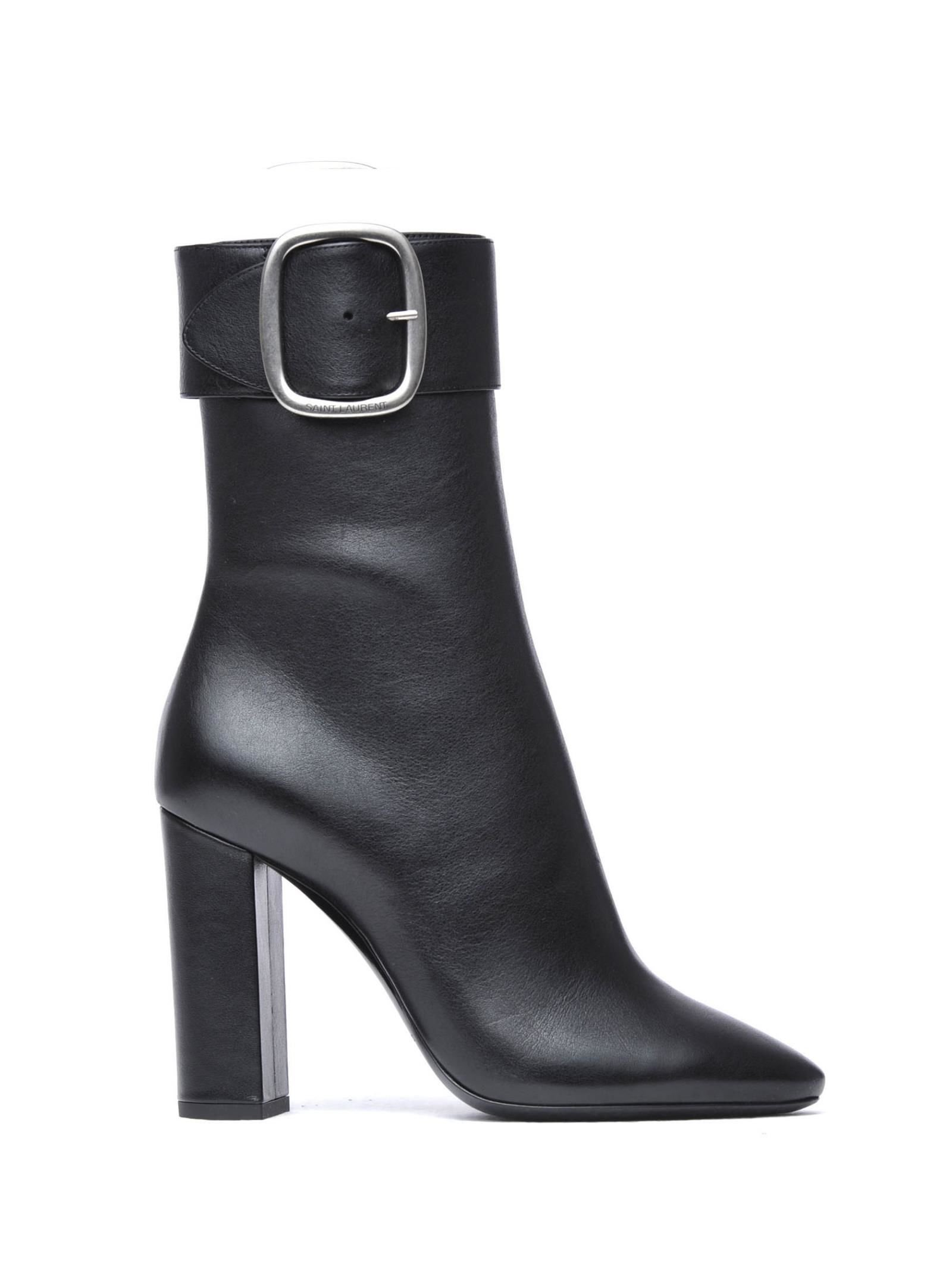Saint Laurent Joplin Buckle Ankle Boots