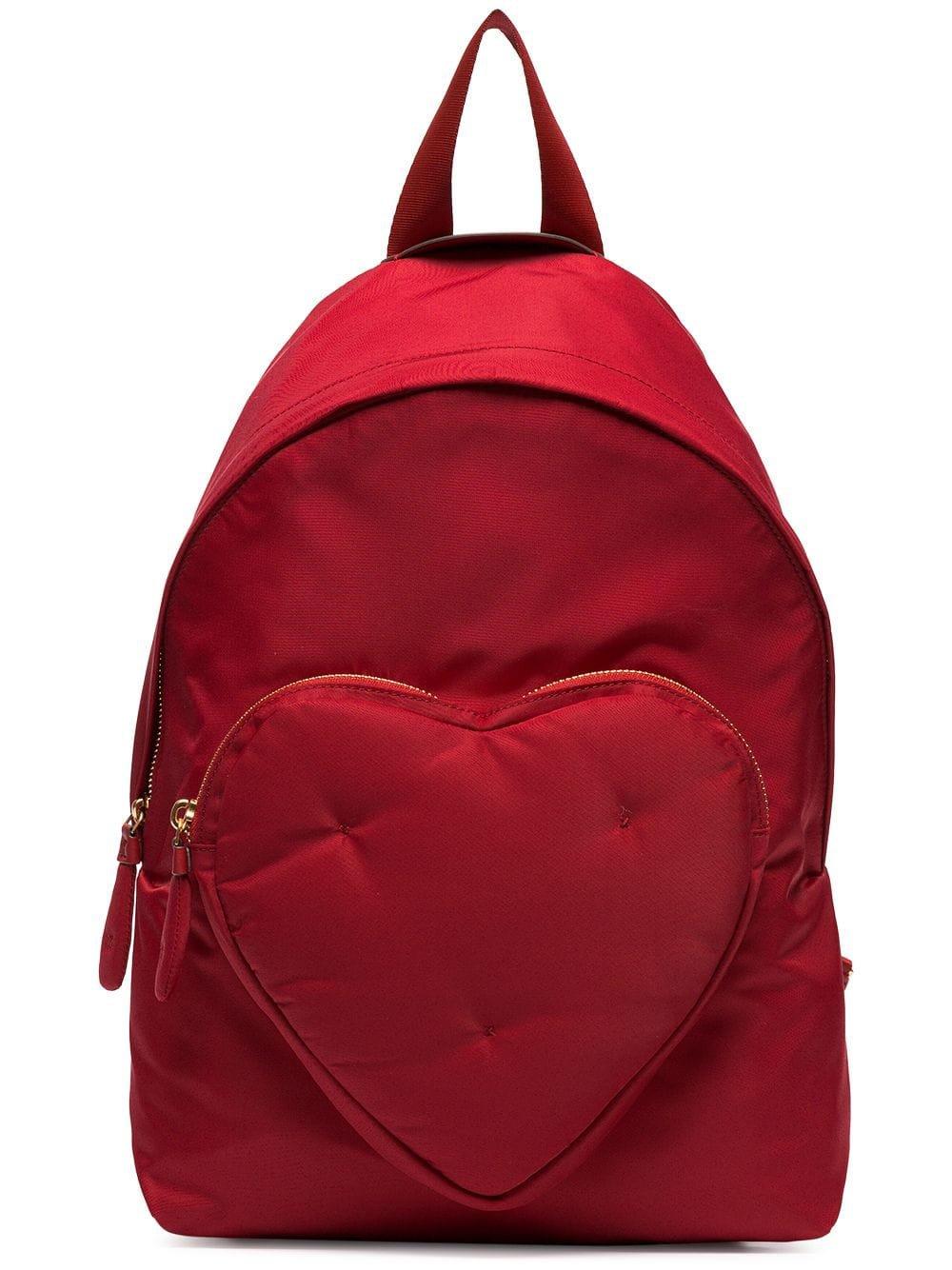 Anya Hindmarch red Chubby Heart nylon backpack £350 - Fast Global Shipping, Free Returns