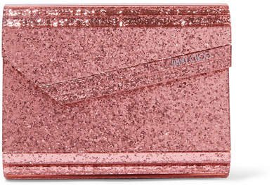 Candy Glittered Acrylic Clutch - Pink
