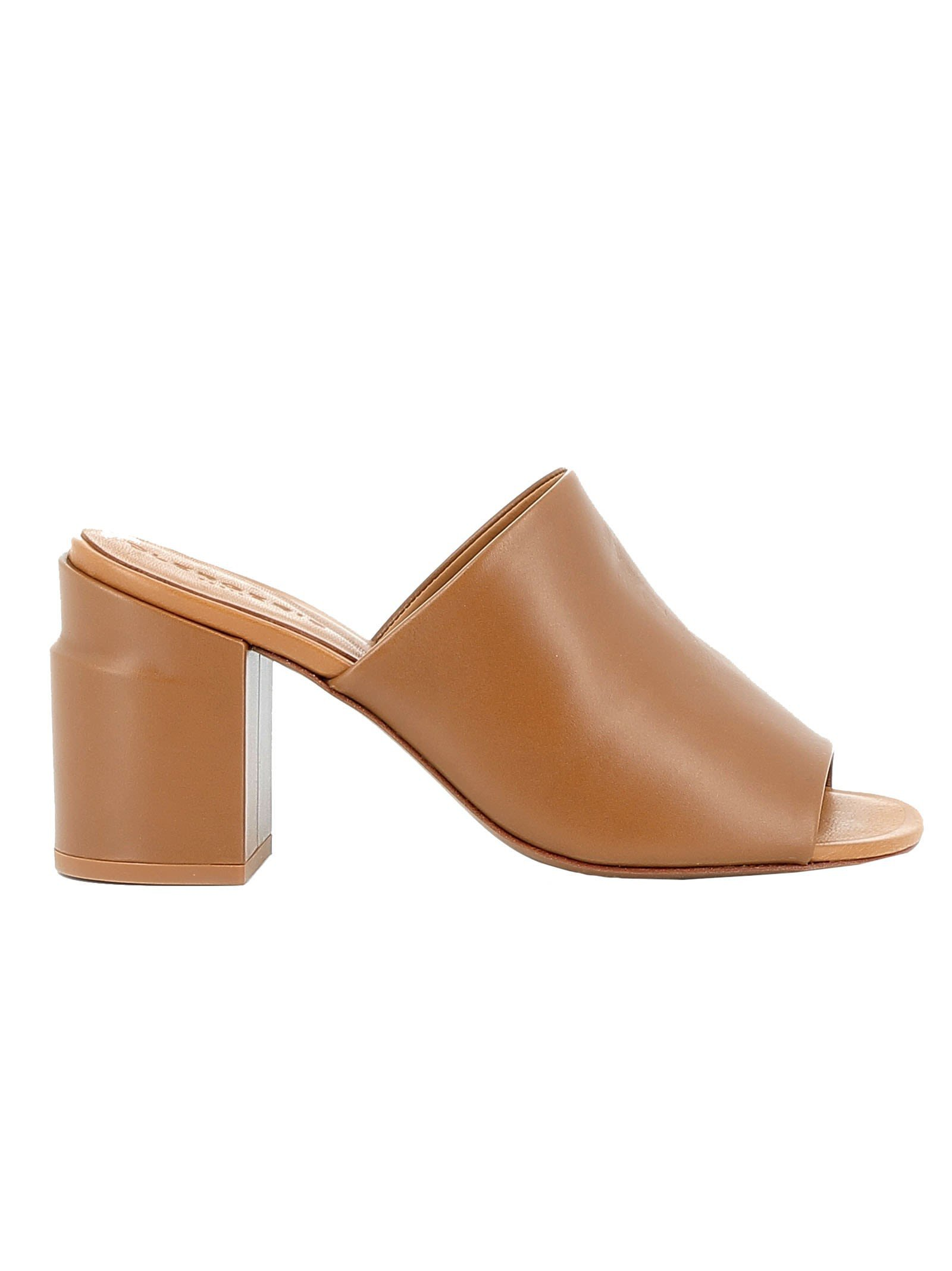 Robert Clergerie Papaya Leather Sandals