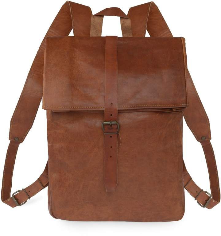 VIDA VIDA - Vida Vintage Leather Roll Top Backpack