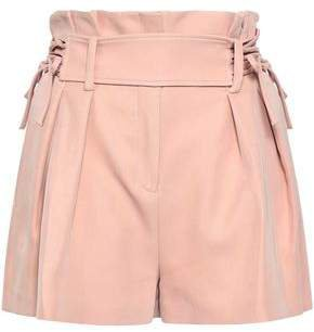 Lalora Belted Pleated Twill Shorts