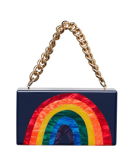 Christian Louboutin So Kate Rainbow Baguette Clutch Bag