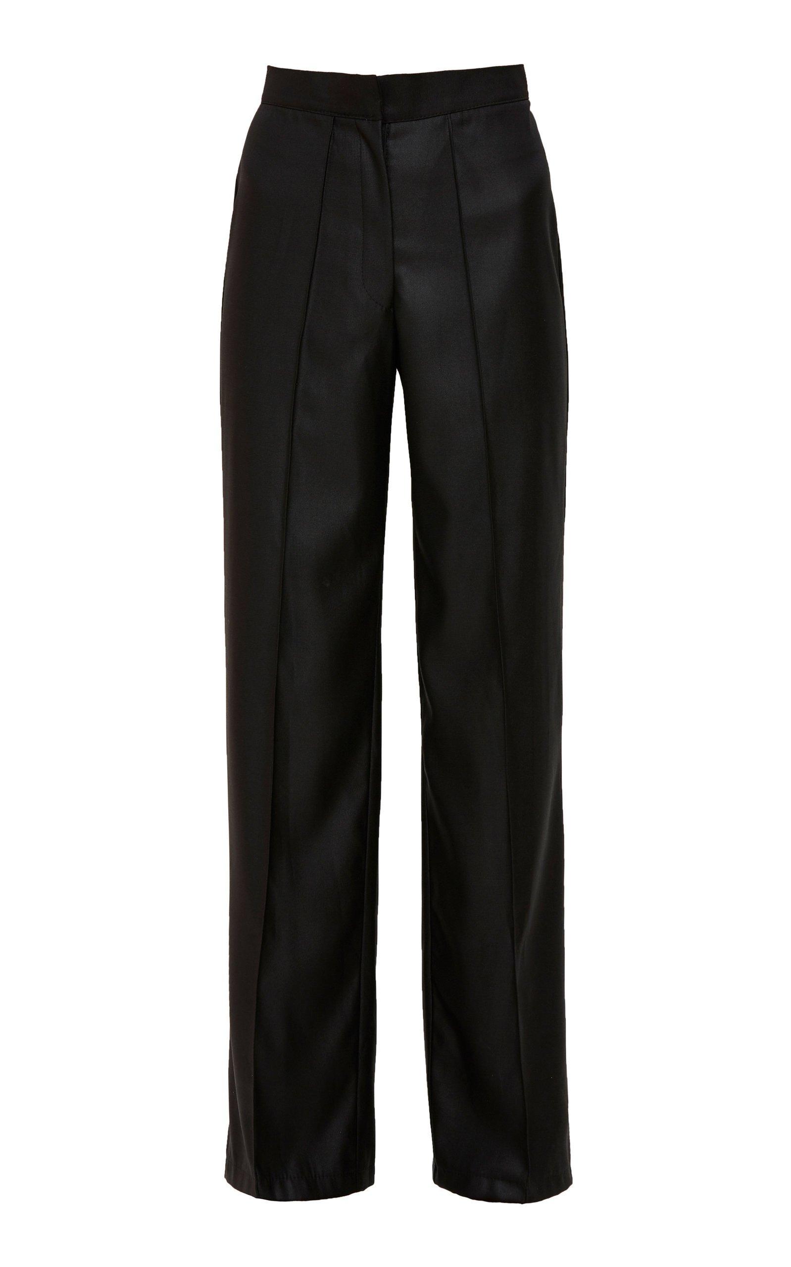Mach & Mach Wide Leg Black Trousers