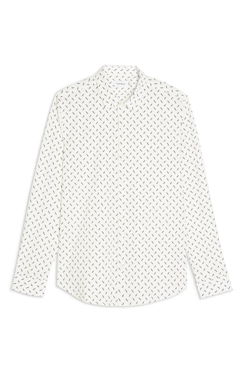 Topman Off White Dot Button-Up Shirt   Nordstrom