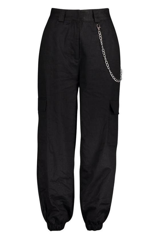Chain Trim Pocket Cargo Trousers | Boohoo