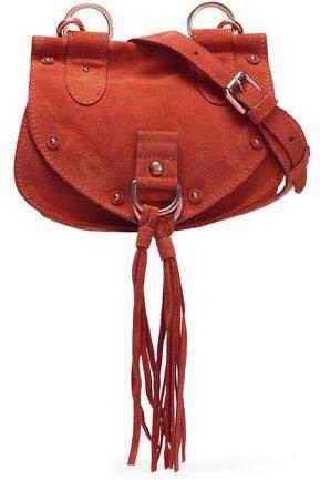 Collins Mini Tasseled Suede And Leather Shoulder Bag