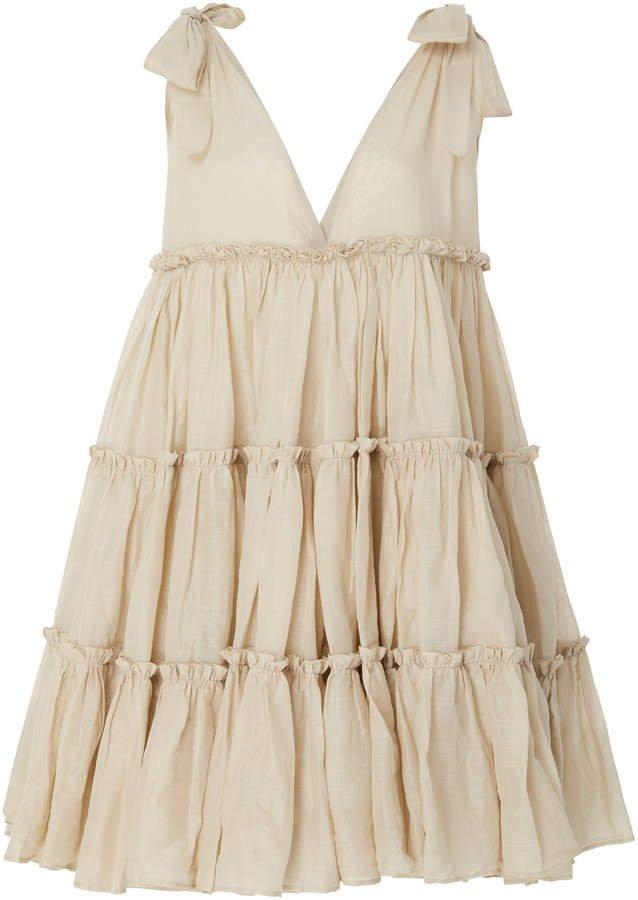 Innika Choo Frilled Ramie Mini Dress