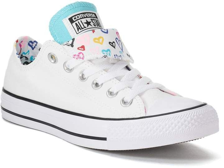 Converse Women's Chuck Taylor All Star Double Tongue Heart Print Sneakers