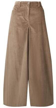 Cotton-corduroy Wide-leg Pants