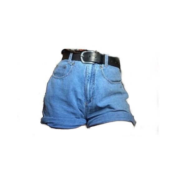 png denim shorts with belt