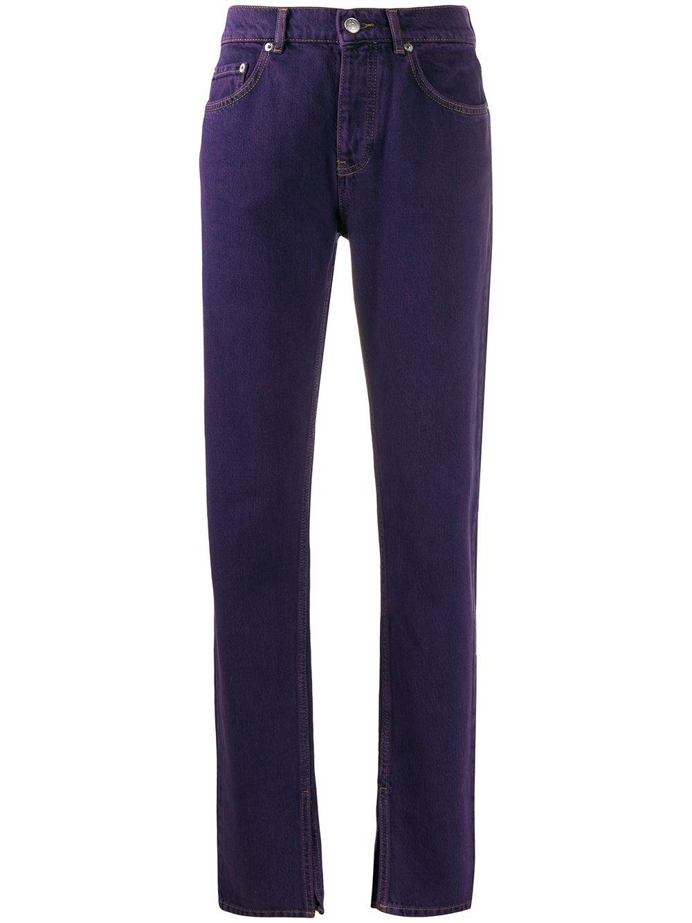 Ganni Mid Rise Ankle Slit Jeans