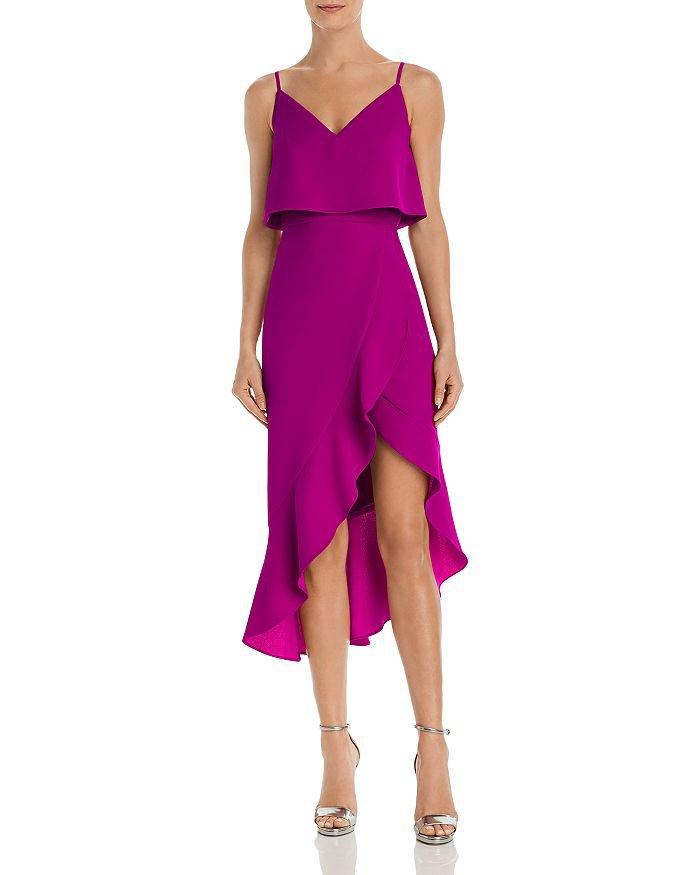 AQUA Asymmetric Ruffle Dress - 100% Exclusive | Bloomingdale's
