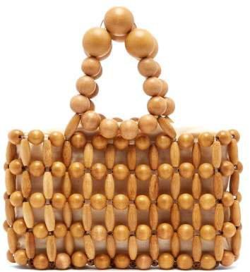 Cora Bamboo Beaded Bag - Womens - Light Brown