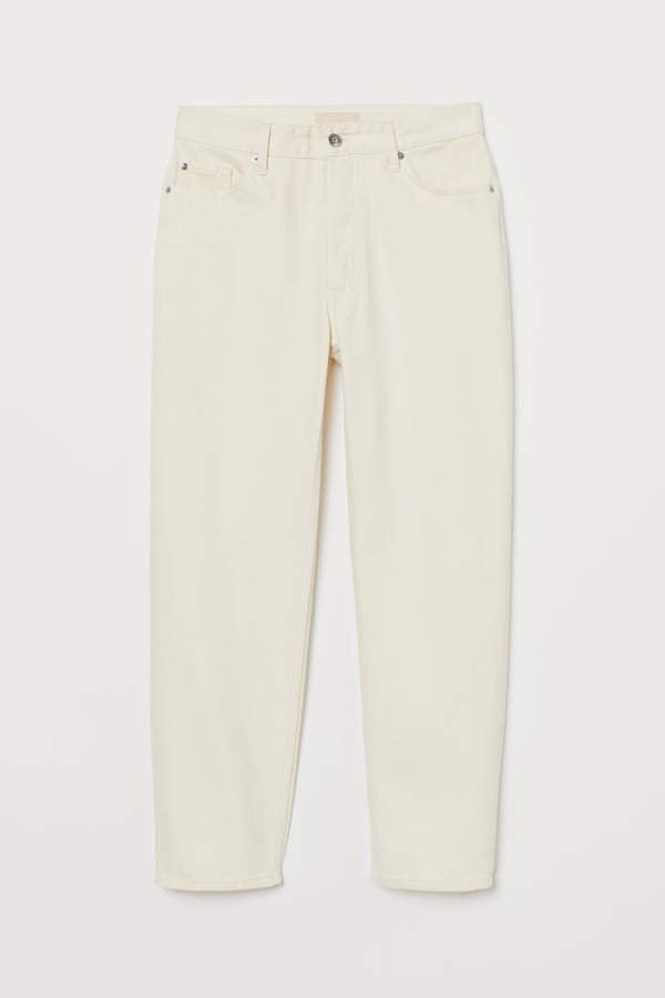 Straight Ankle Jeans - White
