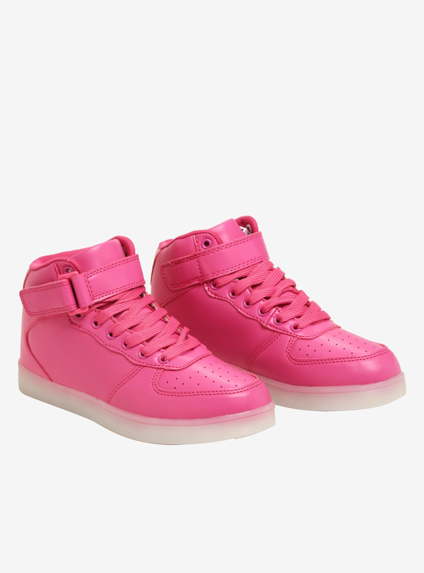 Pink Light-Up Hi-Top Sneakers