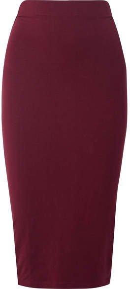 Ninety Percent - Stretch-tencel Midi Skirt - Burgundy