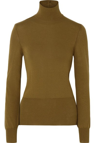 Jacquemus | Baya cutout cotton-blend turtleneck sweater | NET-A-PORTER.COM