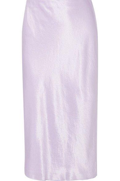 Vince   Hammered-satin skirt   NET-A-PORTER.COM