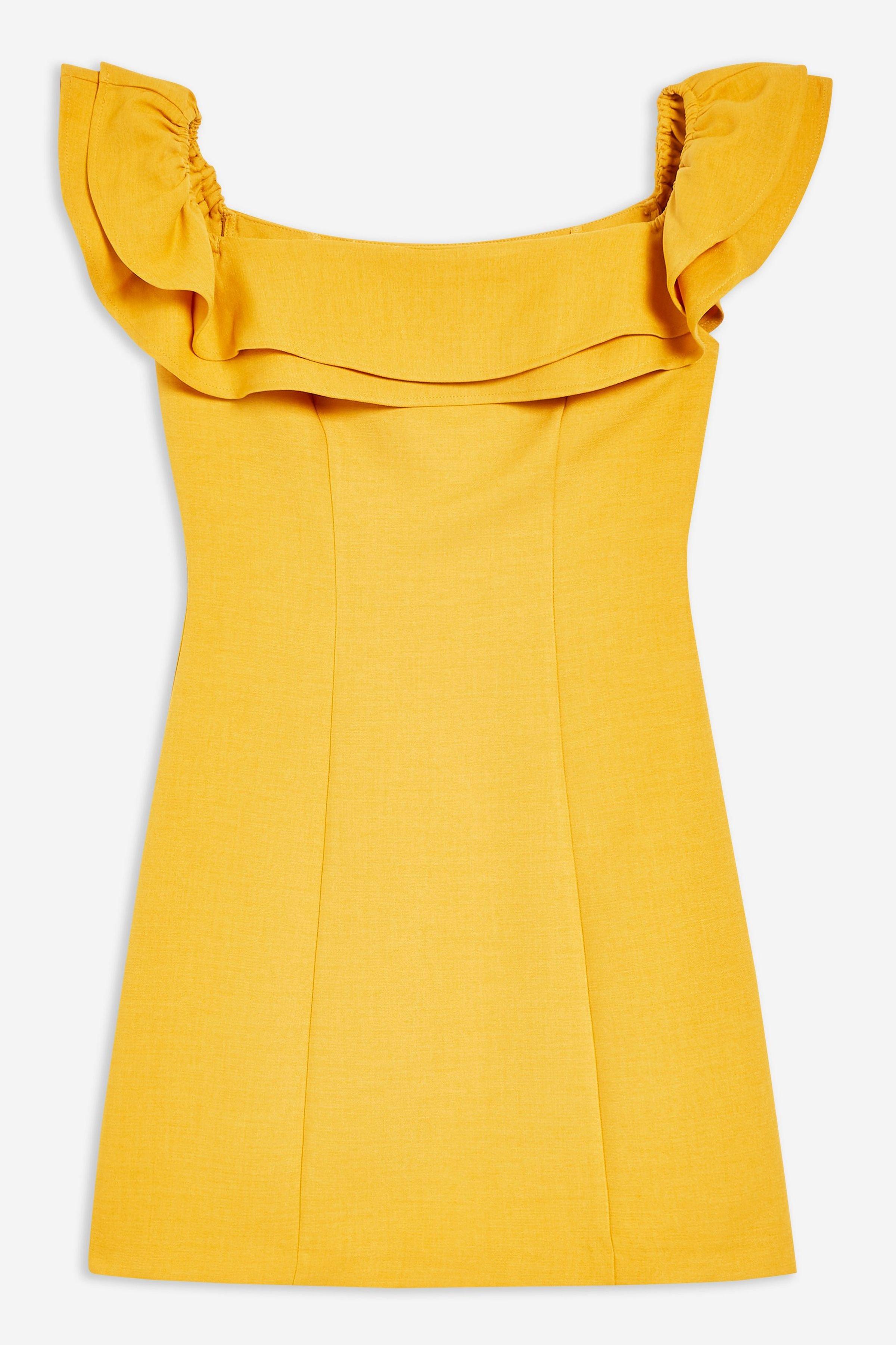 Ruffle Bardot Mini Dress | Topshop