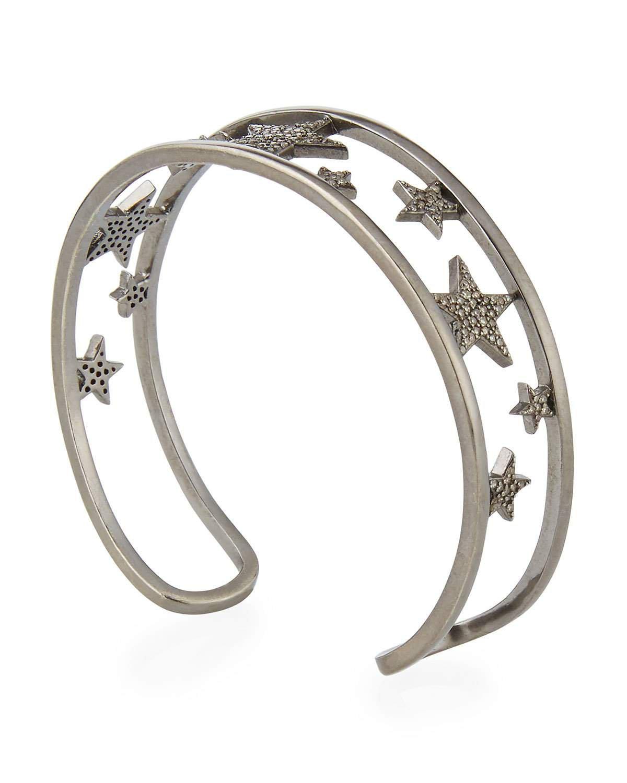 Siena Lasker Pave Diamond Star Cuff Bracelet