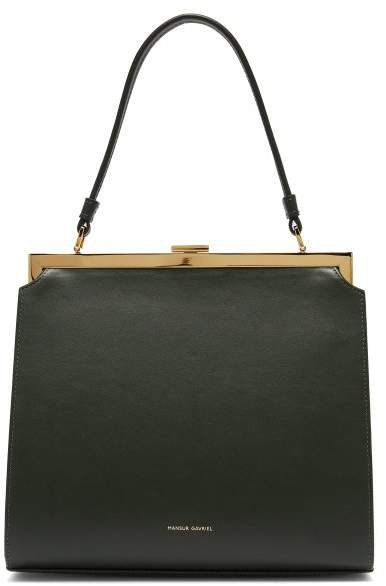 Elegant Leather Bag - Womens - Dark Green