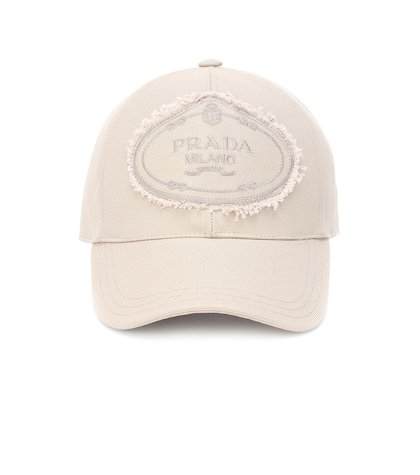 Appliquéd cotton cap