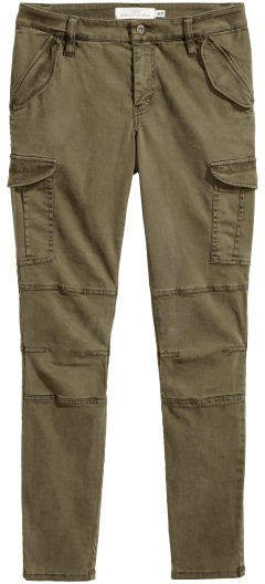 Lyocell-blend Cargo Pants - Green
