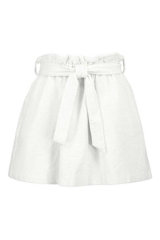 Baby Cord A Line Mini Skirt | Boohoo