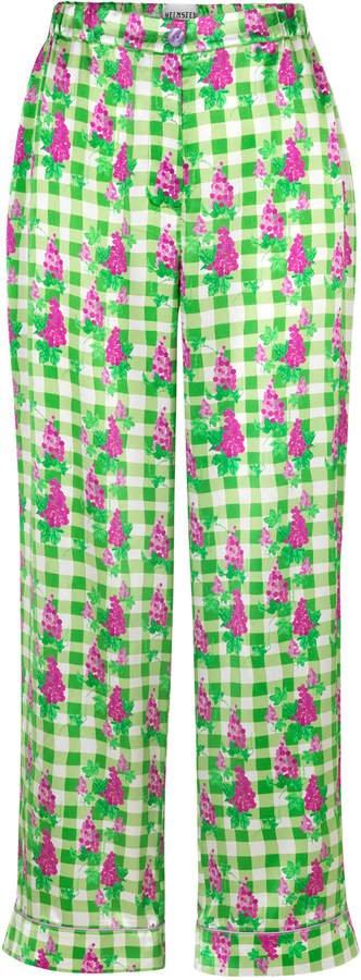 Helmstedt Wide Leg Silk Satin Pants