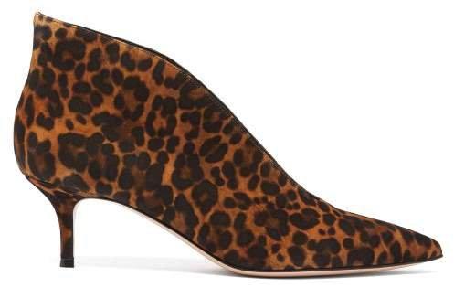 Vania 55 Leopard Print Suede Ankle Boots - Womens - Leopard