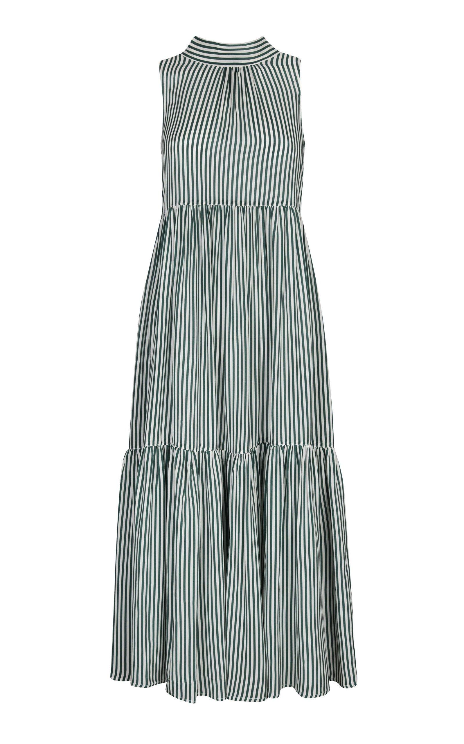 Asceno Printed Midi Dress