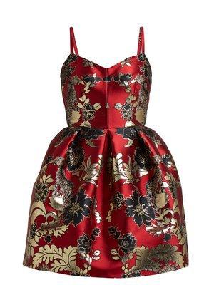 Spring Garden-print silk midi dress   Valentino   MATCHESFASHION.COM