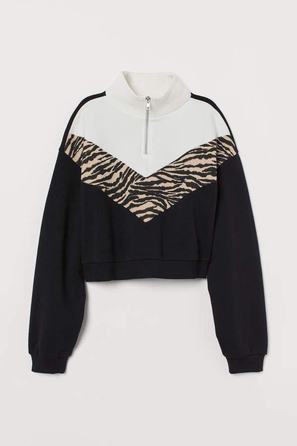 Short Sweatshirt - Black