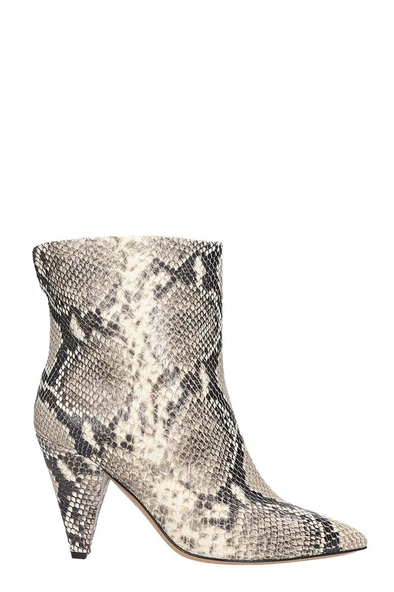 The Seller Ankle Boots In Animalier Leather