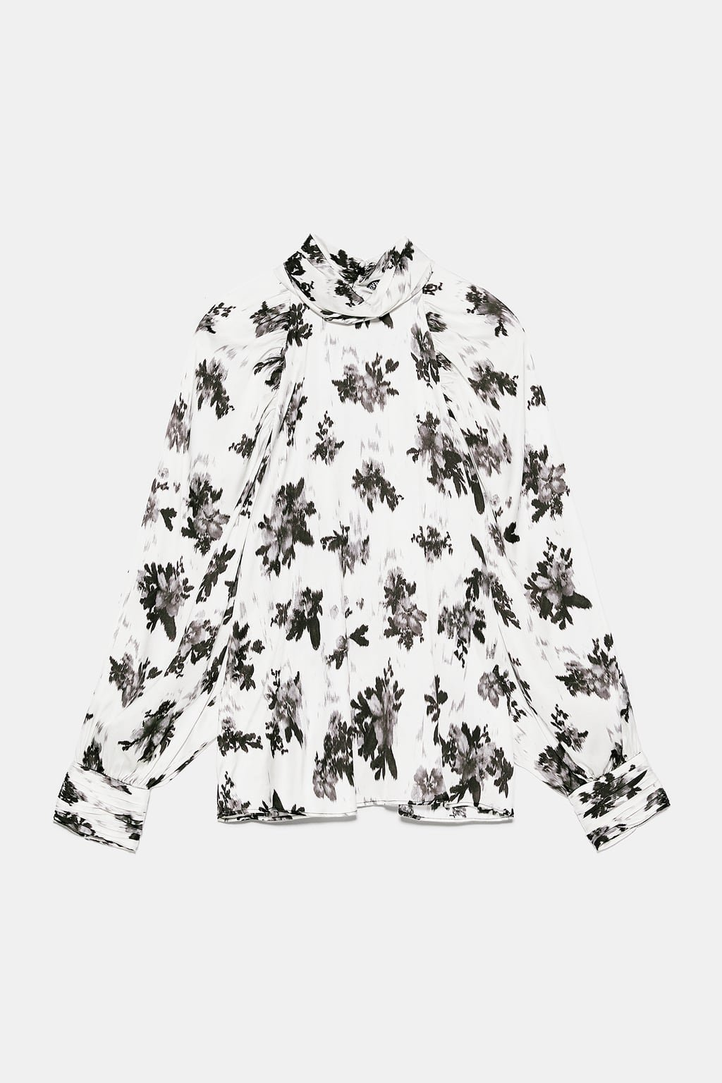 FLORAL PRINT BLOUSE - NEW IN-WOMAN   ZARA United States black white