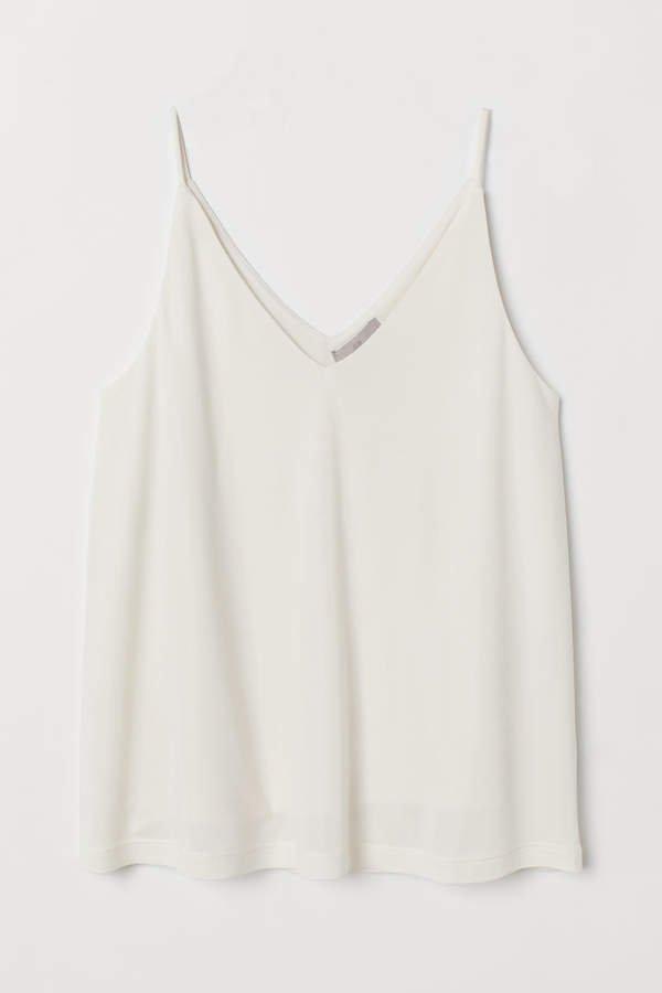 V-neck Camisole Top - White