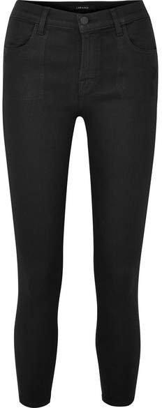 Alana Coated High-rise Skinny Jeans - Black