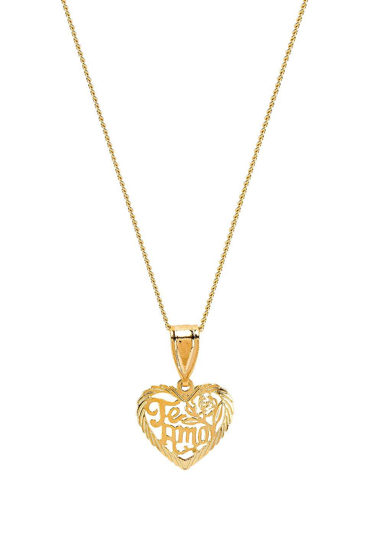 The Te Amo Heart Pendant Necklace