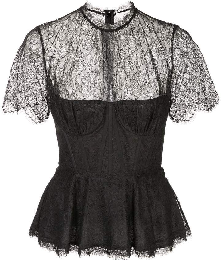 silk lace bustier top
