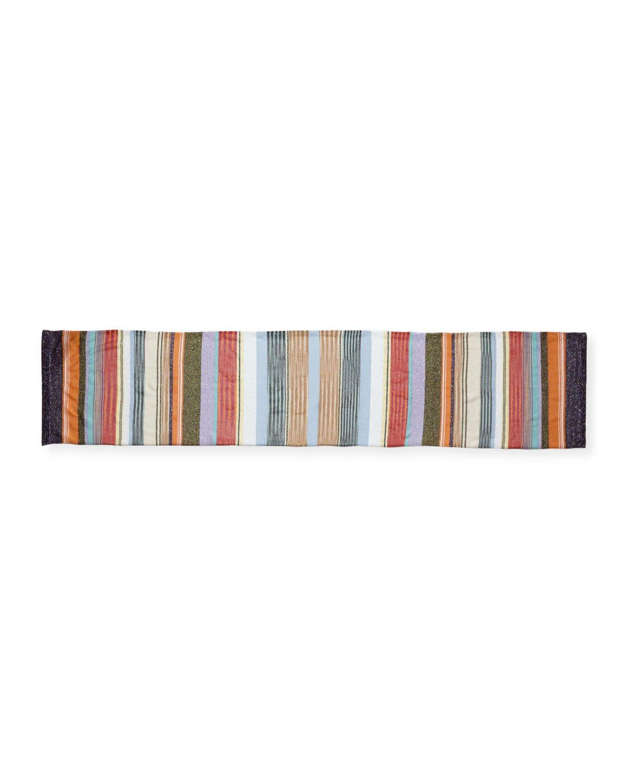 Missoni Multi-Stripe Metallic Scarf