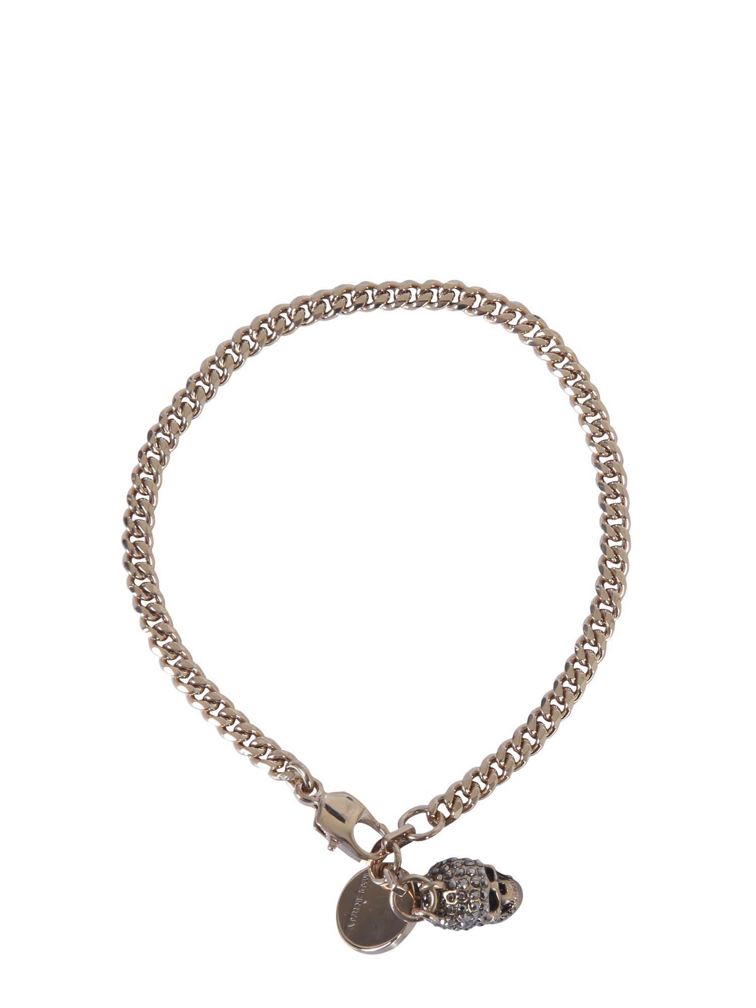 Alexander McQueen Skull Double Chain Bracelet