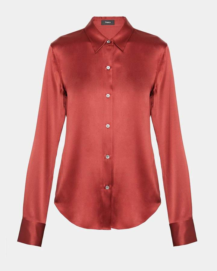Satin Perfect Fitted Shirt