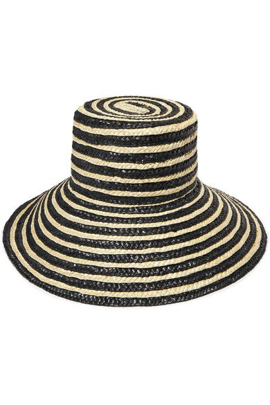 Eugenia Kim | Annabelle striped straw hat | NET-A-PORTER.COM