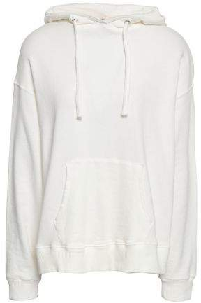 French Cotton-terry Hooded Sweatshirt