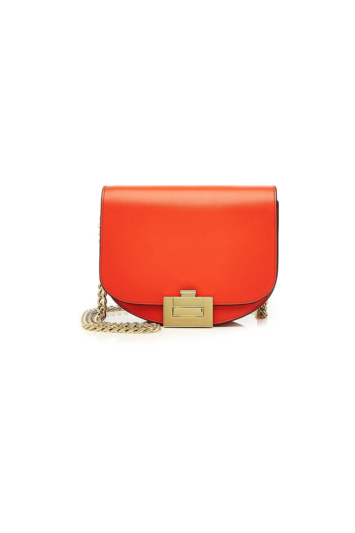 Nano Half Moon Box Leather Shoulder Bag Gr. One Size