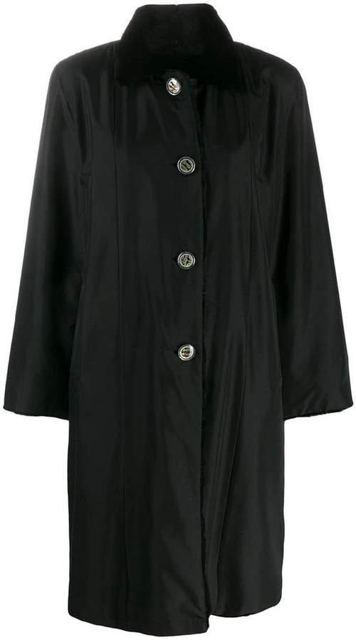 Liska mink fur collar coat