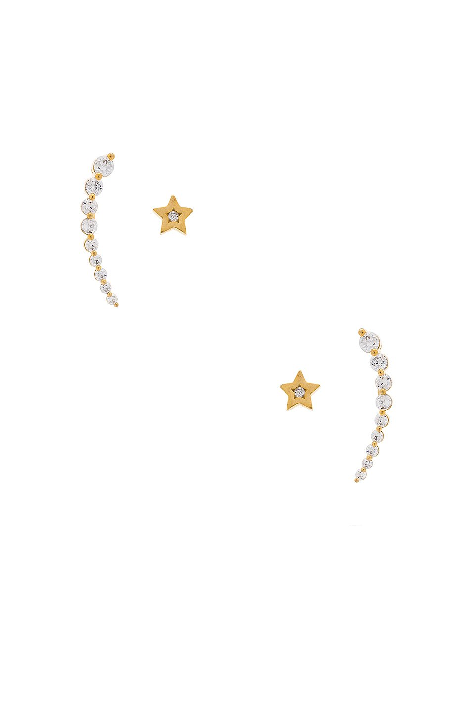 Shooting Star Crawler Earrings
