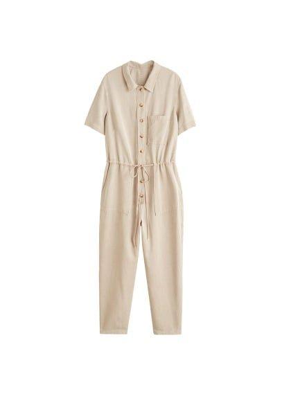 Violeta BY MANGO Long soft jumpsuit